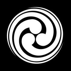 尾長三つ巴 おながみつどもえ Onaga mitsu domoe  The design of the Onaga 3 Tomoe.