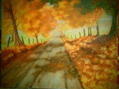 Autumn Country Drive   #Postimpressionism