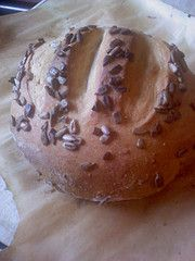 artisan bread with sunflower seeds