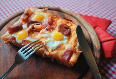 Kefires kenyérlángos Hawaiian Pizza, Tableware, Kitchen, Food, Dinnerware, Cooking, Tablewares, Kitchens, Essen