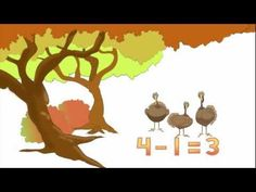 Five Turkey subtraction song. Fun and educational video for kids! Thanksgiving Videos, Thanksgiving Activities, Christmas Videos, Thanksgiving Crafts, Subtraction Kindergarten, Kindergarten Learning, Math Songs, Fun Songs, 1st Grade Math