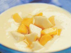 Eksoottinen vaniljakiisseli Cantaloupe, Baking, Fruit, Desserts, Food, Tailgate Desserts, Deserts, Bakken, Essen