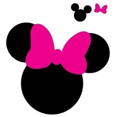 Mickey and Minnie Mouse Silhouette SVG Free Minnie Maus Silhouette, Silhouette Nails, Minnie Mouse Bow, Mickey Minnie Mouse, Minnie Mouse Cricut Ideas, Mickey Mouse Template, Mickey Ears, Scrapbook Da Disney, Theme Mickey
