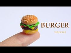 [Stop Motion] Burger Polymer Clay Tutorial / Tutoriel Fimo - YouTube