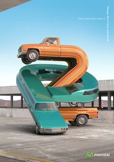 Movistar: Cars, 2 One character does it. Advertising Agency: Y&R, Buenos Aires, Argentina