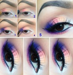 Colorful eye shadow.