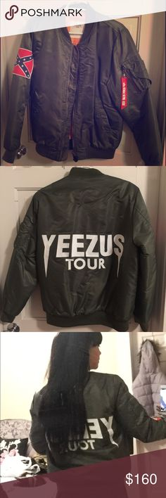 Yeezus Tour Bomber Jacket This is an amazing Yeezus tour bomber. I only wore it once. Very comfy and totally stylish!!! In brand new condition. Price reflects authenticity. Yeezy Jackets & Coats