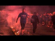 Here is a quick timelapse of them building one up. PDSA Fundraising #Firewalk Challenge