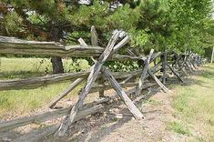 Split Rail Fence with Crossed Posts -- make gravity work for you!