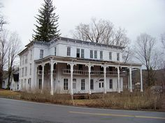 An abandoned hotel or inn in Lexington, NY.