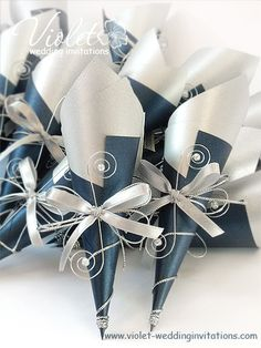 """Scroll"" Wedding Invitation, Violet Handmade Wedding Invitations"