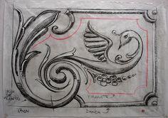 https://flic.kr/p/77aRfa | BOCETO  CL 2 | Boceto de clase de fileteado 50 x 70 cm Carbonilla sobre papel U$S 20.-  agfileteado@yahoo.com.ar