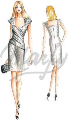 Model 2159   Sewing Pattern Dress
