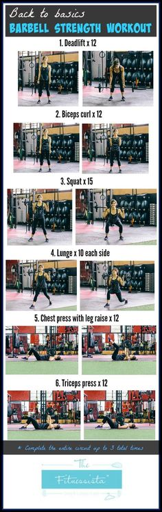 barbell workout is the perfect plan for someone who wants to incorporate this piece of equipment into their fitness routine.This barbell workout is the perfect plan for someone who wants to incorporate this piece of equipment into their fitness routine. Fitness Workouts, Training Fitness, Mental Training, Weight Training, Fun Workouts, At Home Workouts, Fitness Tips, Fitness Motivation, Health And Fitness