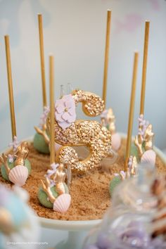 Cake pops from a Pastel Mermaid Birthday Party via Kara's Party Ideas | KarasPartyIdeas.com (26)