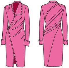 """Os exemplos de modelos de vestidos (2) baseia-se em um programa de cálculo de """"cortador"""""""