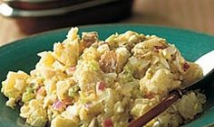 Potato salad is always a hit at barbecues but why not make some to serve with dinner, too? This tangy recipe with a dressing made from mustard, relish and garlic salt will wow the taste buds and satisfy hungry hordes.