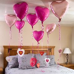 Tie floating love notes to heart balloons  to show how your sweetie makes you feel!