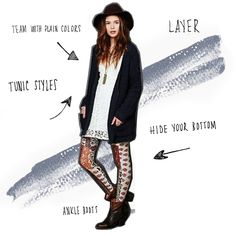 How To Wear Printed Leggings or Tights: There are a lot of people who do not know how to wear printed or patterned tights so that they flatter the outfit.