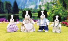 Calico Critters is a girl's toy collection of adorable animal figurines that come with cute playhouses and accessories. Calico Critters Families, Cats Eye Stone, Sylvanian Families, All Toys, Kids Store, Family Dogs, Toys For Girls, Border Collie, Cute Animals