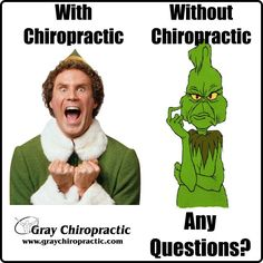 Buddy the elf... or the Grinch? I know who I'd rather be! #ChiropracticRocks