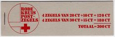 The Netherlands (Holland) - Red Cross stamp booklet, 1972.