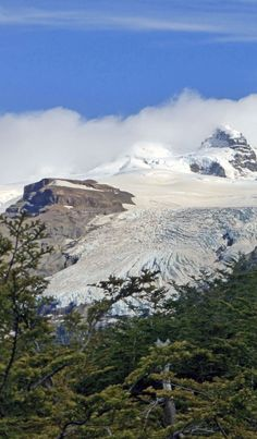 Cerro Tronador and its glaciers in Argentinean Patagonia