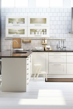 IKEA SEKTION kitchen cabinets that suit you and how you use your kitchen will save you time and effort every time you cook (or empty the dishwasher)!