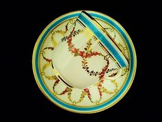 Minton cup and saucer  1868