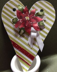 #Season of Cheer, #Christmas Hearth #Tag made by Helga Brown from Cardblanche, Stampin'Up only.