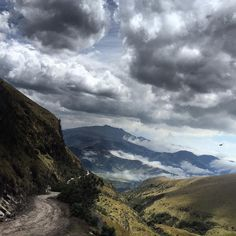 Phone photo: @ivankphoto A dirt road twists up to #Guagua #Pichincha (4784 m) an active volcano near #Quito #Ecuador.  Atacazo (4463 m) is seen in the background. @panospictures @thephotosociety @runa_photos by natgeo