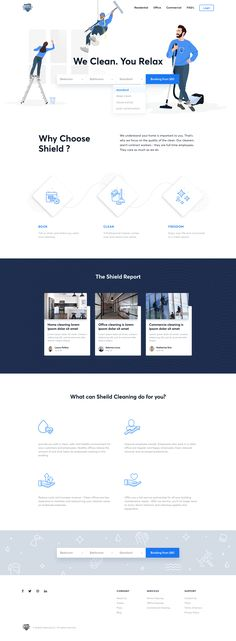 Dribbble shot 18 forshield cleaning web website landing page template. Business Web Design, Flat Web Design, Web Business, Web Design Services, Web Design Company, Design Agency, Website Design Layout, Web Layout, Web Design Quotes
