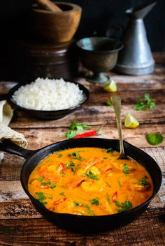 Thai Pineapple and Prawn Curry
