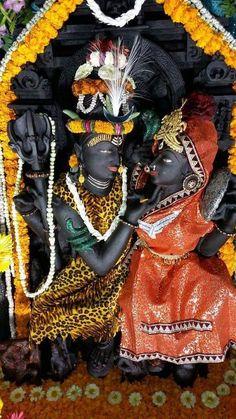 Shiva and Parvati deities