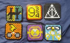 Items similar to Harry Potter Coasters Perler Bead Art on Etsy Hama Beads Coasters, Diy Perler Beads, Perler Bead Art, Perler Bead Templates, Pearler Bead Patterns, Perler Patterns, Harry Potter Perler Beads, Pixel Art, Art Perle