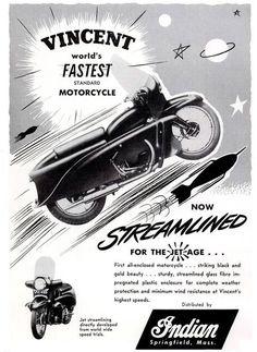 vintage Vincent Motorcycle poster
