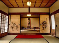 Japanese Style House, Traditional Japanese House, Japanese Interior Design, Japanese Home Decor, Japanese Homes, Japanese Decoration, Sala Tatami, Japanese Bedroom, Japanese Architecture