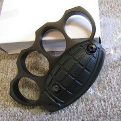 DETONATOR Grenade BRASS KNUCKLES Knuckle Duster BK : Non-Lethal Weapons at GunBroker.com