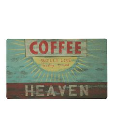 Love this 'Coffee Heaven' Rug by Mohawk Home on #zulily! #zulilyfinds
