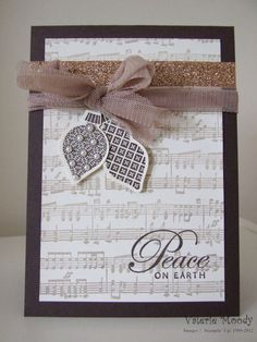 Christmas ornaments card using sheet music