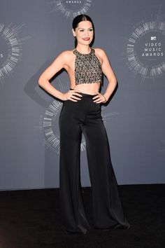 Black Wide Leg Trousers, Jessie J, Hollywood Life, Mtv, Highlights, Jumpsuit, Celebs, In This Moment, Womens Fashion