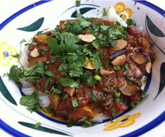 Mushroom Curry with Rice Noodles