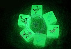 sexy dice light in the dark game gambling toys funny humour craps for couples lovers wholesale $31.68