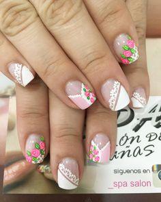 How To Do Nails, My Nails, Manicure, Nail Designs, Nail Polish, Nail Art, Beauty, Easy To Draw Flowers, Nail Hacks