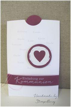 Kommunionseinladung für Mädchen