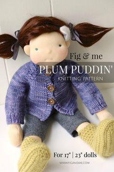 PDF knitting pattern Doll Clothing Patterns DIY Waldorf