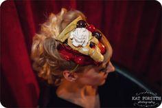 Twin Peaks cherry pie bride headdress / fascinator