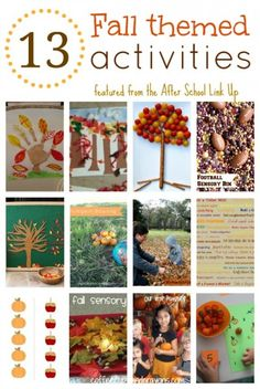 13 Fun Fall Themed Activities for Kids!