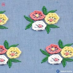videos hand embroidery all over design for dress Brazilian Embroidery Stitches, Crewel Embroidery Kits, Hand Embroidery Videos, Embroidery Stitches Tutorial, Embroidery Flowers Pattern, Embroidery Techniques, Vintage Embroidery, Border Embroidery Designs, Hand Embroidery Dress