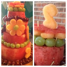 Use cookie cutters to shape your melon cake decor :)